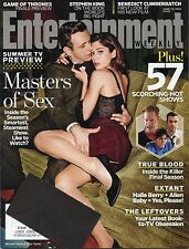 """Entertainment Weekly Magazine #1315 June 13th 2014  - """"Masters of Sex"""" Cover"""