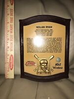 Nolan Ryan Round Rock Express ATT Commemorative wall plaque RARE