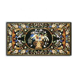 """48"""" x 30"""" Marble coffee Table Top Pietra Dura Home Decor Inlay Work"""