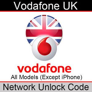 Vodafone UK Network Unlock Code (for All Models EXCEPT iPhone/Google Pixel)