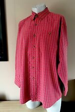 ORVIS CLASSIC RED CHECK BUTTON DOWN COLLAR SHIRT SIZE LARGE