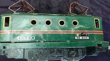 ANCIEN JOUET TÔLE  LOCOMOTIVE TRAIN  BB 8051 MECCANO HORNBY 1954 + 2 WAGONS