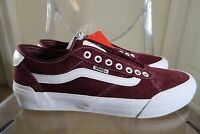 Vans Chima Pro Burgundy / True White Men's Classic Skate Shoes Size 9.5