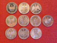 10 Stück: 10 DM Silbermünzen - Sammlung - alle Qualitäten laut Fotos