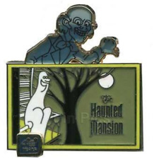 Disney Pin 86480 WDW 40th Anniversary The Haunted Mansion Ghost Ezra LE on Card