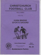CHRISTCHURCH  V  BOURNEMOUTH POPPIES WESSEX LEAGUE  1/4/2002