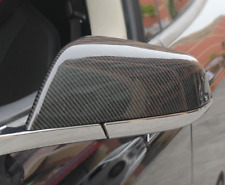 For Tesla Model S 2014-2017 CARBON FIBER SIDE MIRROR COVER CAPS (Paste Style)