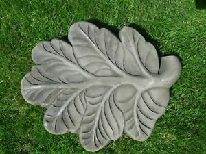 Oak Leaf Stepping Stone  > latex mould  to make garden ornament statue concrete