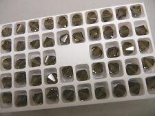 full box,144 new preciosa bicone crystal beads,10mm black diam.