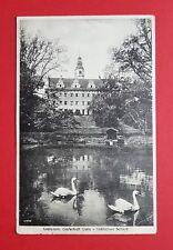 AK GRAFENORT bei Glatz um 1914 Schloss mit Schwanenteich ( 34605