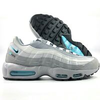 Nike Air Max 95 Retro Logo Particle Grey Black Blue CV1635-001 Men's 11-13