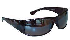 SONNENBRILLE Brille Dunkelbraun verspiegelt Sportlicher Style Damen Herren M 3