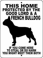"""0454 French Bulldog 9""""x12"""" Aluminum Sign"""