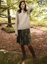 Wight Stuff Velvet Skirt Olive Size 14