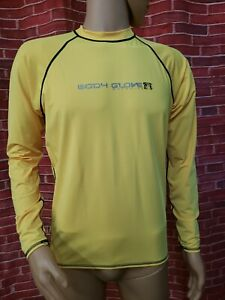 Body Glove Wetsuit Yellow UVP Men's Shirt XXL Ultraviolet Protection Long Slv #C