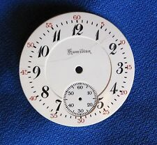 Hamilton 16 size Railroad Pocket Watch Dial Double Sunk