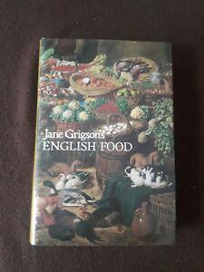 Jane Grigson's English Food. Large Vintage Hardback Book. Macmillan. 1979. Rare.