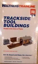 WALTHERS TRAINLINE TRACKSIDE TOOL BUILDINGS HO SCALE 1:87  + 1 FREE HO FIGURE!