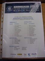 09/03/2016 Birmingham City U21 v Sheffield United U21  (single sheet). Any fault
