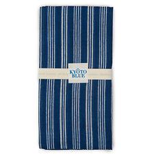 Bleu Rayure Japonais Coton Mouchoir