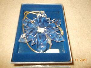 Mikasa Joyous Collection Crystal Snowflake Ornament Christmas Tree Ornament