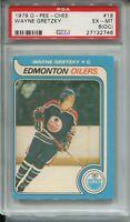 1979 OPC Hockey 18 Wayne Gretzky Rookie Card Graded PSA Ex Mint 6 OC O-Pee-Chee