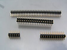 Pin Header Plug 2.54mm Pitch Double Row Surface Mount 40 way 5 Pieces MBD023B