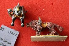 Grenadier Miniatures FANTASY LES GUERRIERS Orc Wolf Rider en métal figure Fantasy ORCS un