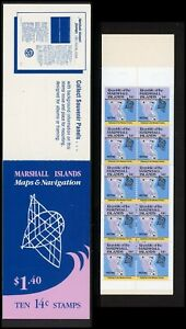 Marshall Islands Scott #40a MNH BOOKLET of 10x14c Map of Wotho CV$7+ ISH-1