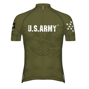 Primal Wear US Army G.I. Men's Full Zip Evo 2.0 Race Fit Racing Cycling Jersey