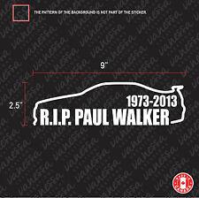 2X  RIP, R.I.P. PAUL WALKER SKYLINE sticker vinyl decal