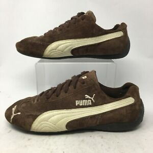 Puma Mens 8 Athletic Training Sneakers Brown White Suede Low Top Lace Up Comfort