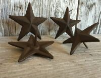 Cast Iron medium Nail Star Antique Brown/ Black Finish SET OF 4