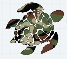Camo Turtle design Decal Window/Car/Truck/Sticker **NEW ITEM**
