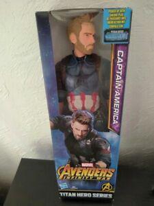 Figurine articulée Titan Héro Séries - Captain América - 30 cm - Neuve - Marvel