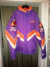 Mens Throwback Phoenix Suns Puffer Starter Jacket Size XL