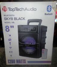 "8"" Bluetooth 1200 Watts Professional FM Radio Karaoke Multimedia Speaker - SKY8"