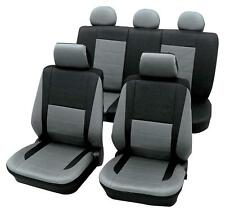 Leather Look Grey & Black Car Seat Covers - For Toyota Camry