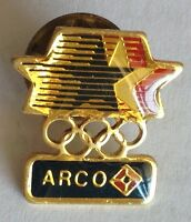 ARCO Advertising USA Olympic Team Sponsor Pin Badge Rare Vintage (F3)