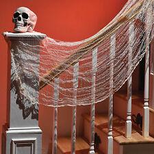 1.5 M Gothique Halloween Party sanglante chiffon blanc tissu tombant drapé décoration