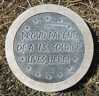 Military proud parent stepping stone concrete plaster mold plastic casting mould
