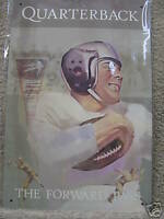 Quarterback Football vintage look Tin Metal Sign