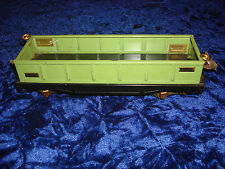 Original 1932-34  Lionel 812 apple Green Gondola  car with Brass Plates