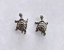 Paio Di Sterling Silver 925 Tartaruga Orecchini A Perno Nuovo