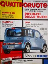 Quattroruote 652 2010 Metano e GPL grandi affari. Peugeot 5008, Kia Sorento Q99]