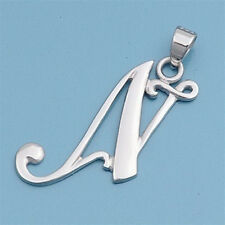 Alphabet Initial Pendant Sterling Silver 925 Rhodium Plated Jewelry Letter N