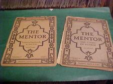 LOT OF 2 1920 THE MENTOR MAGAZINE LITERARY LANDMARKS NY