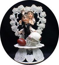 Arizona Cardinal Funny Wedding Cake Topper Football Themed Sport Groom top