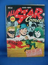 ALL STAR COMICS 6 VG F JSA FLASH 1941