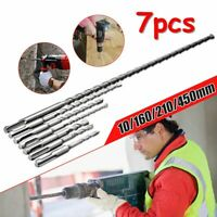 7pcs SDS Plus Rotary Hammer Drill Bits Chisel Concrete Masonry Head Tool Set